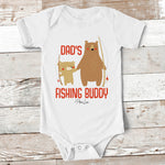 Baby Apparel | Dad's Fishing Buddy Baby Onesie