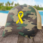 Donation - Childhood Cancer Micro Ribbon Hat