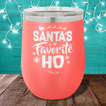 Santa's Favorite Ho 12oz Stemless Wine Cup