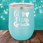 Lil Miss Grinch 12oz Stemless Wine Cup