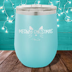 Meowy Christmas 12oz Stemless Wine Cup