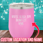 Vacation Drunkfest (CUSTOM) 12oz Stemless Wine Cup