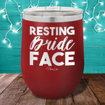 Resting Bride Face 12oz Stemless Wine Cup