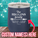 Customized Family (CUSTOM) 12oz Stemless Wine Cup