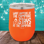 What Happens At The Campfire 12oz Stemless Wine Cup