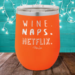 Wine Naps Netflix 12oz Stemless Wine Cup