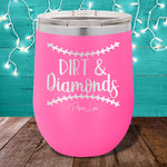Dirt and Diamonds 12oz Stemless Wine Cup