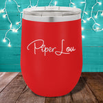 Piper Lou Logo 12oz Stemless Wine Cup