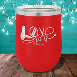 Hair Stylist Love 12oz Stemless Wine Cup