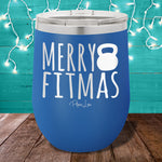 Merry Fitmas 12oz Stemless Wine Cup