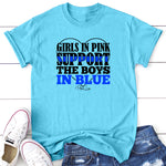 Girls In Pink Support Boys In Blue
