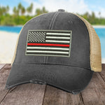 Red Line Flag Hat