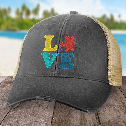 100% Donation - Autism Puzzle Love Hat