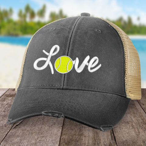 Cursive Love Tennis Hat
