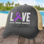 100% Donation - Cystic Fibrosis Love Ribbon Hat