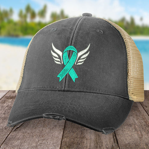 100% Donation - Cervical Cancer Angel Wings Hat