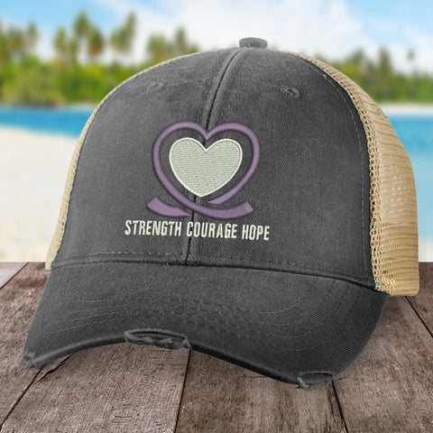 100% Donation - Alzheimer's Strength Courage Hope Hat