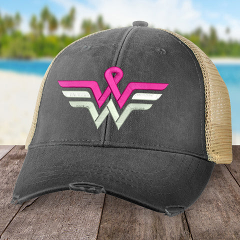 100% Donation - Breast Cancer Wonder Woman Hat