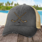 Crossed Hockey Sticks Hat