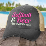 Softball And Beer Hat