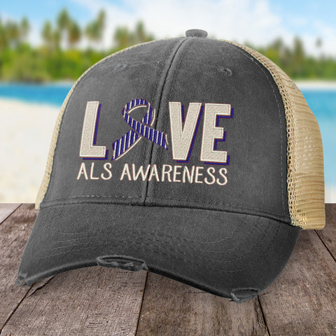 100% Donation - ALS Love Ribbon Hat