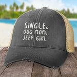 Single Dog Mom Jeep Girl Hat