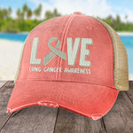 Donation - Lung Cancer Love Ribbon Hat