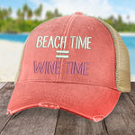 Beach Time, Wine Time Hat