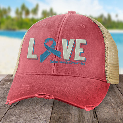 100% Donation - Colon Cancer Love Ribbon Hat