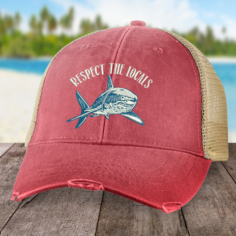 100% Donation - Respect the Locals Shark Hat
