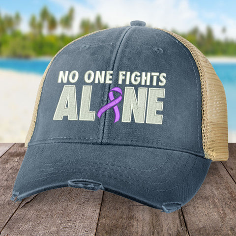 100% Donation - Alzheimer's Awareness No One Fights Alone Hat