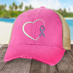 Donation - Alzheimer's Awareness Heart Ribbon Hat