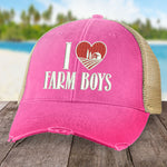 I Love Farm Boys Hat