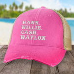 Hank Willie Hank Waylon Hat
