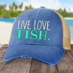 Live Love Fish Hat