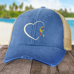 Donation - Autism Puzzle Ribbon Heart Hat
