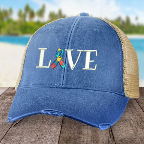 Autism Love Ribbon Hat