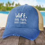 Wife Dog Mom Beer Lover Hat