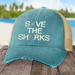 100% Donation - Beach Beach Save The Sharks Hat