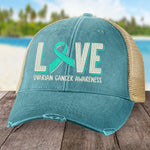 Ovarian Cancer Love Ribbon Hat