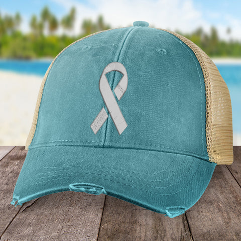 Brain Cancer Micro Ribbon Hat