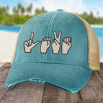 100% Donation - Sign Language Love Hat