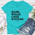 Hank Willie Cash Waylon