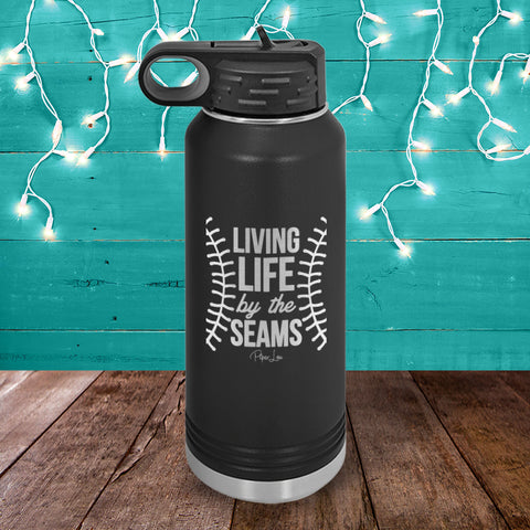 Living Life By The Seams Water Bottle