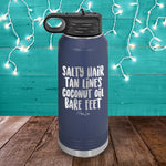 Salty Hair Tan Lines Water Bottle