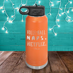 Volleyball Naps Netflix Water Bottle