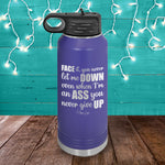 Face Down Ass Up Water Bottle