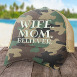 Wife Mom Believer Hat