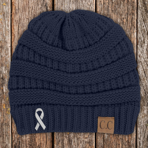 Brain Cancer Awareness Knit Beanie