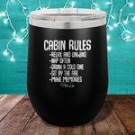 Cabin Rules 12oz Stemless Wine Cup